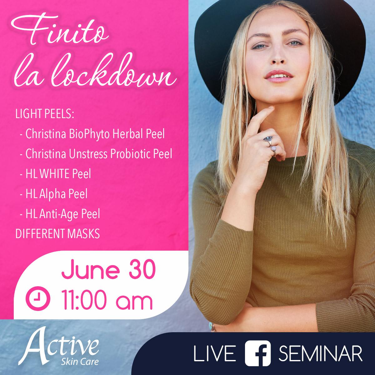 Upcoming Facebook Live Beauty Seminar on Tuesday, June 30th at 11:00 am