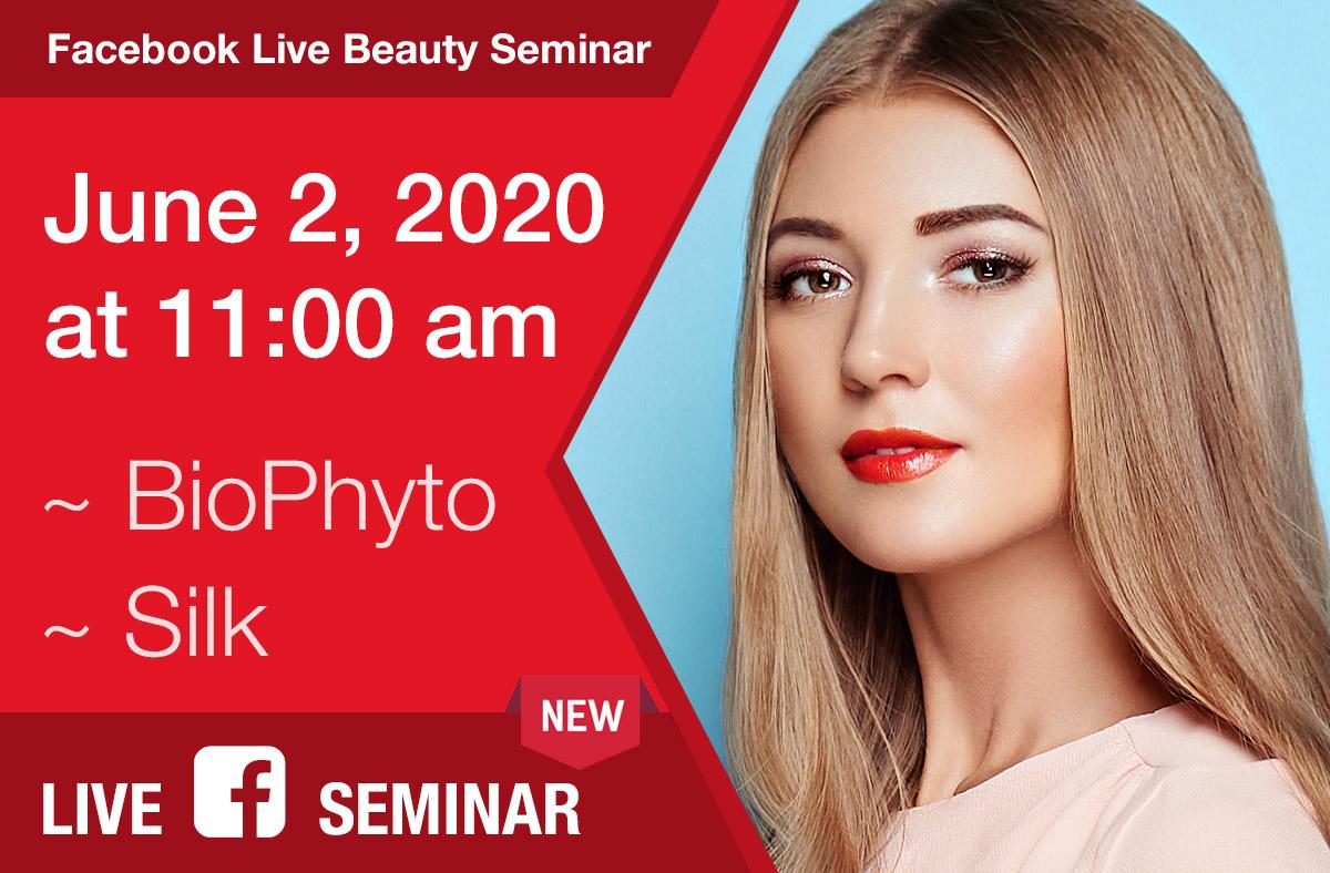 Upcoming Facebook Live Beauty Seminar on Tuesday, June 2nd at 11:00 am