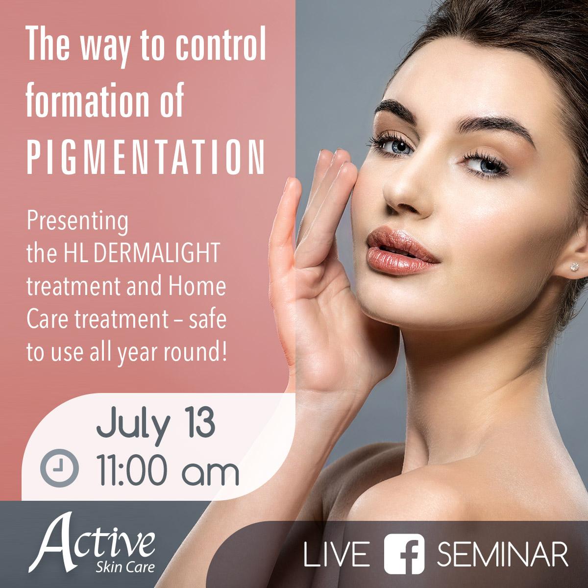 Upcoming Facebook Live Beauty Seminar on Monday, July 13th at 11:00 am