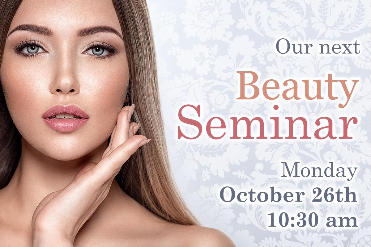 Upcoming seminar on Monday, October 26th at 10:30 am