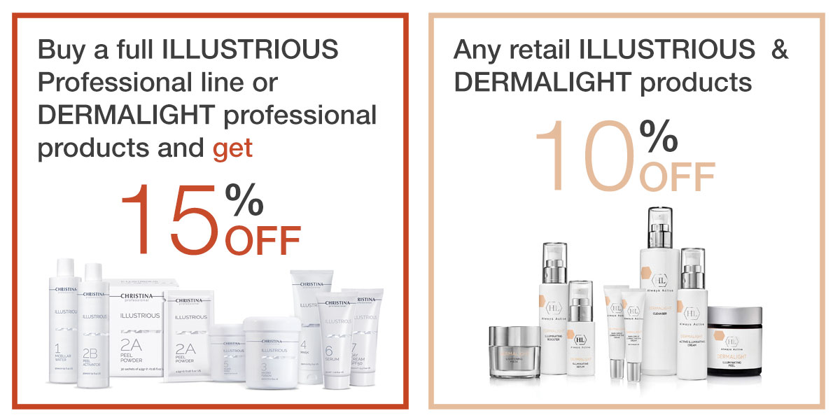 Save on ILLUSTRIOUS and DERMALIGHT