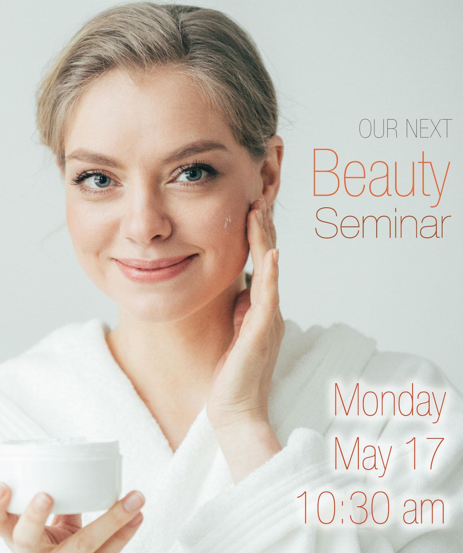 Upcoming seminar on Monday, May 17th at 10:30 am online